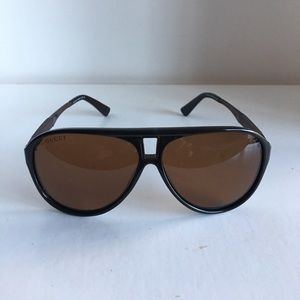 Vintage Gucci aviator sunglasses brown